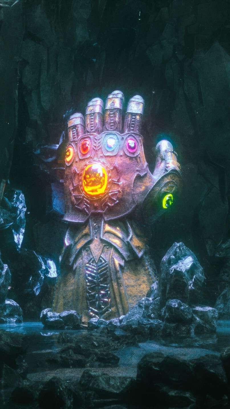 Infinity Stones Gauntlet iPhone Wallpaper