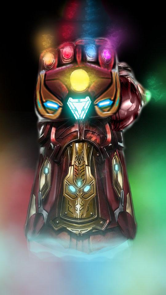 Infinity Stones Iron Man Glove Iphone Wallpaper Iphone