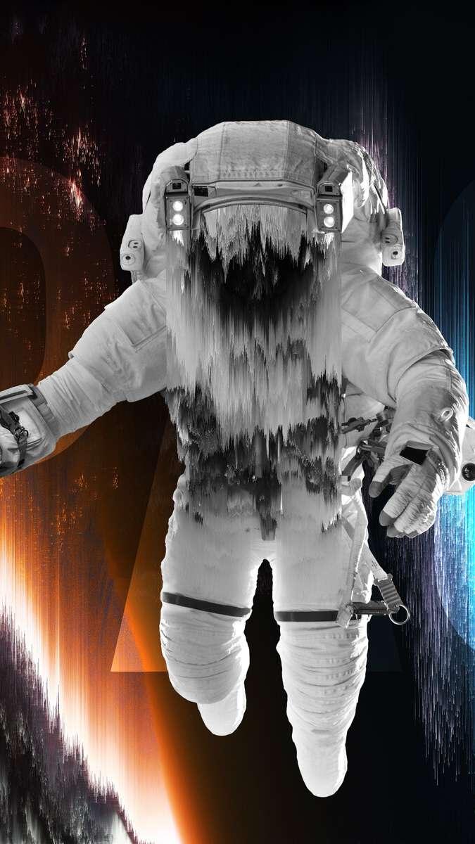 Interstellar Traveller Astronaut iPhone Wallpaper