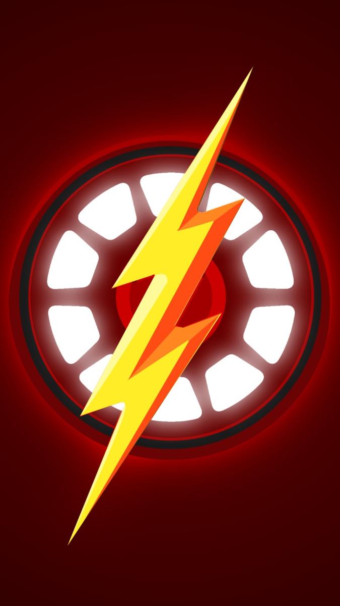 Iron Flash iPhone Wallpaper