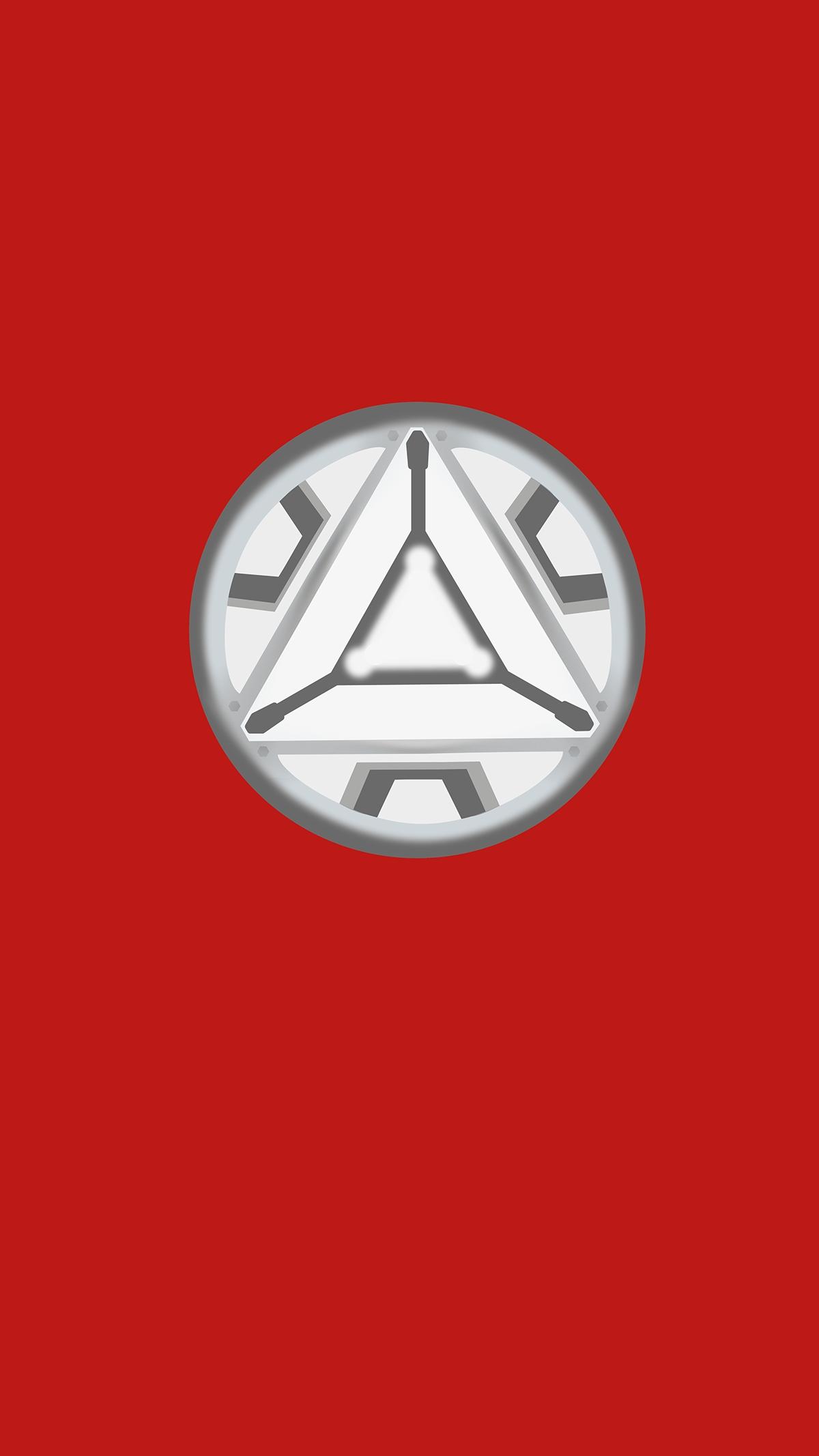 Iron Man Arc Reactor Simple iPhone Wallpaper