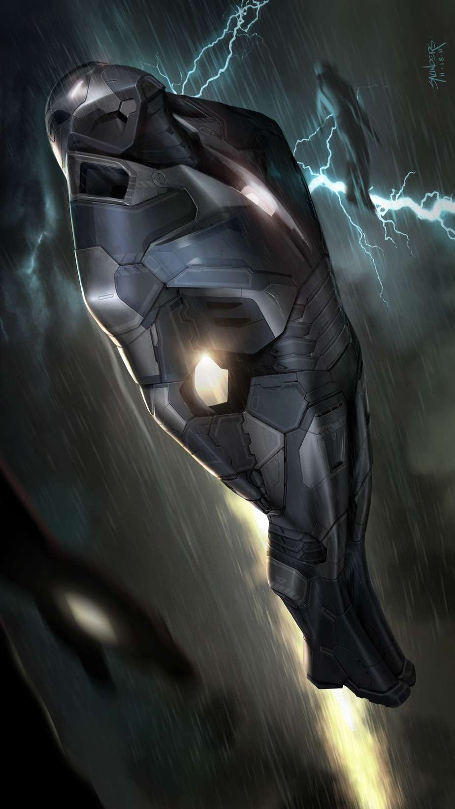 Iron Man Hypervelocity Armor iPhone Wallpaper