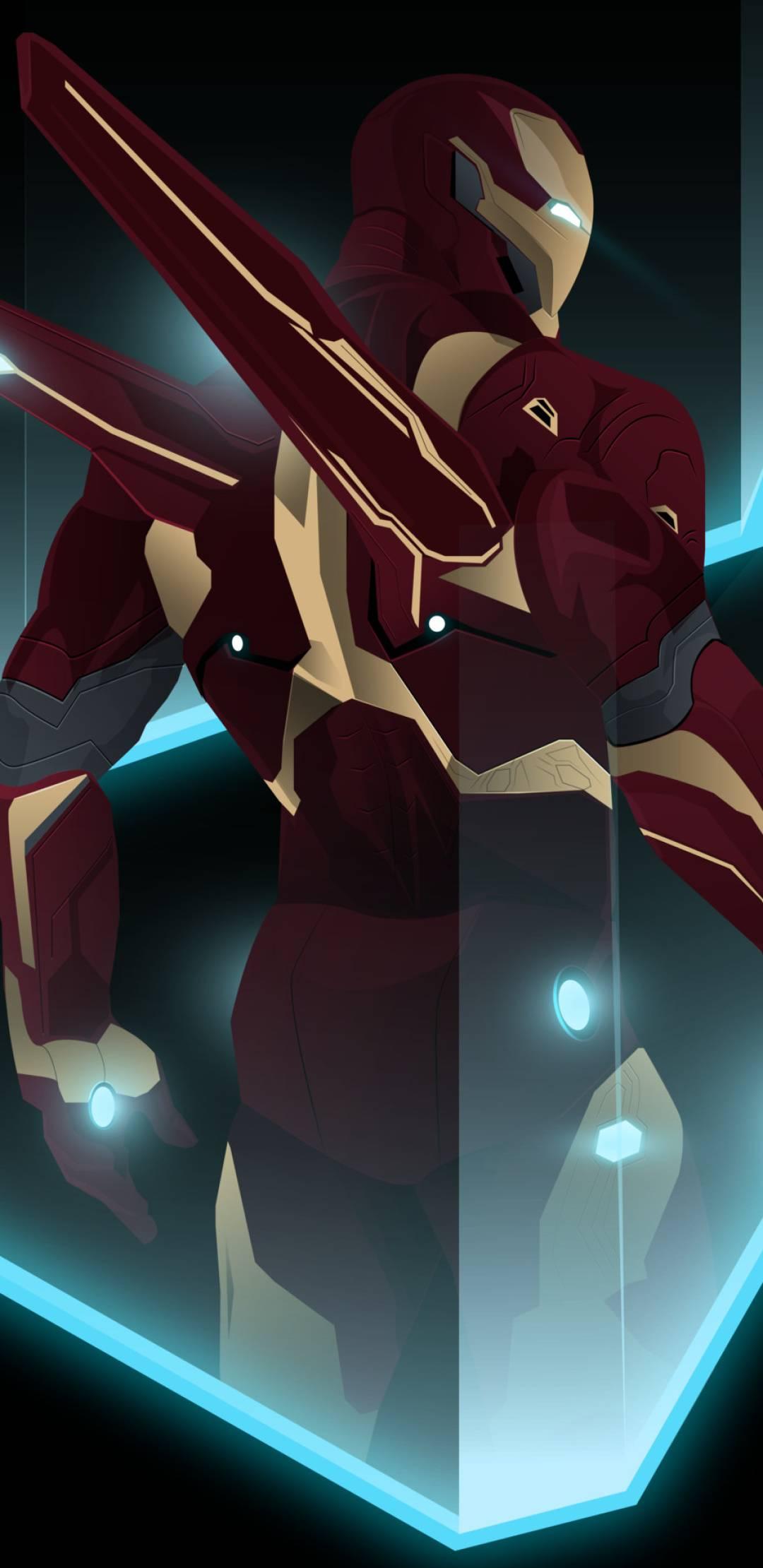 Iron Man MK 50 Animated iPhone Wallpaper