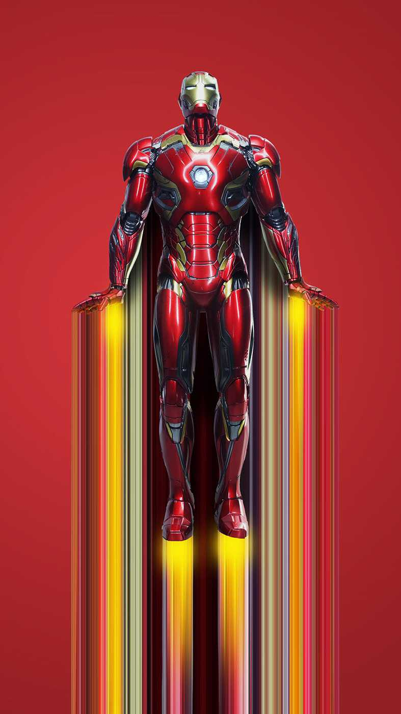 Iron Man Mark 43 Flight iPhone Wallpaper