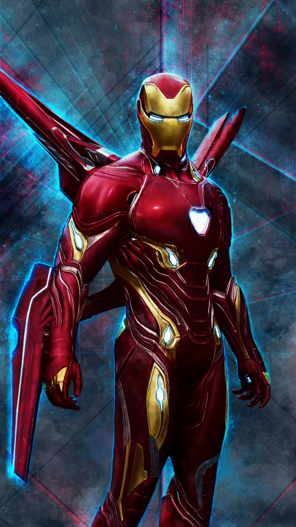 Iron Man Mark 50 Red Armor iPhone Wallpaper