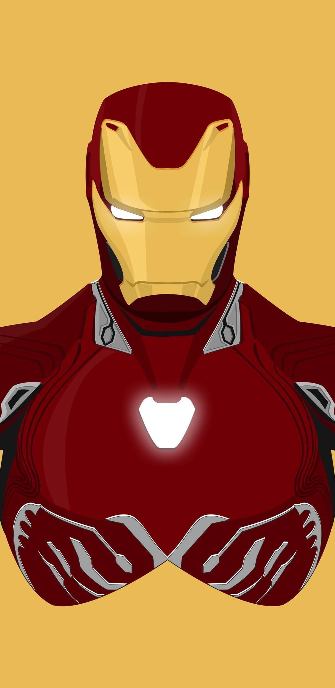 Iron Man Mark 85 Armor Art iPhone Wallpaper