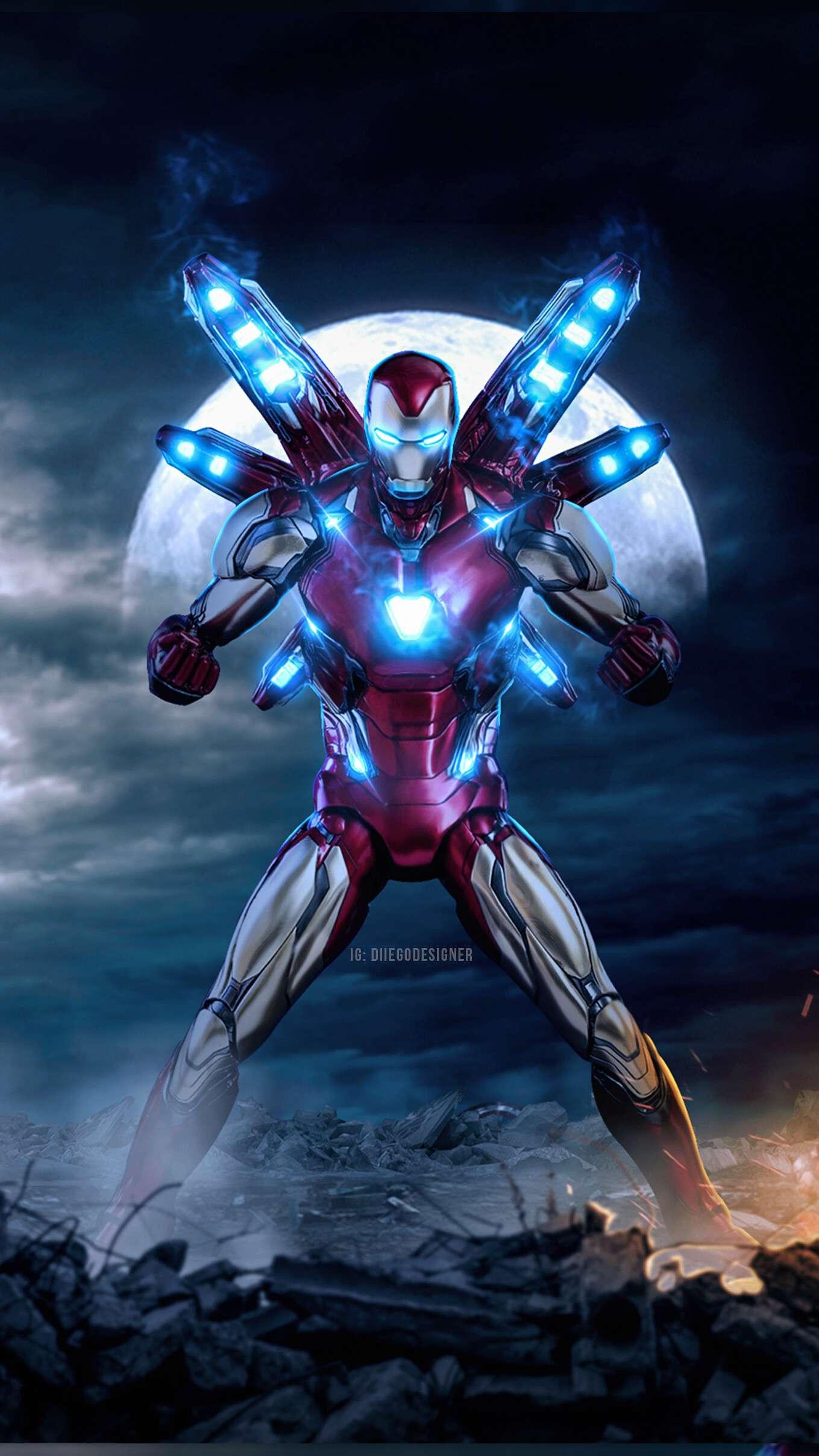 Iron Man Mark 85 Badass iPhone Wallpaper