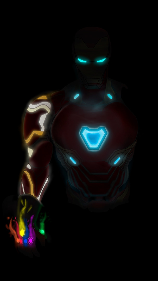 Iron Man Mark 85 Neon Armor iPhone Wallpaper