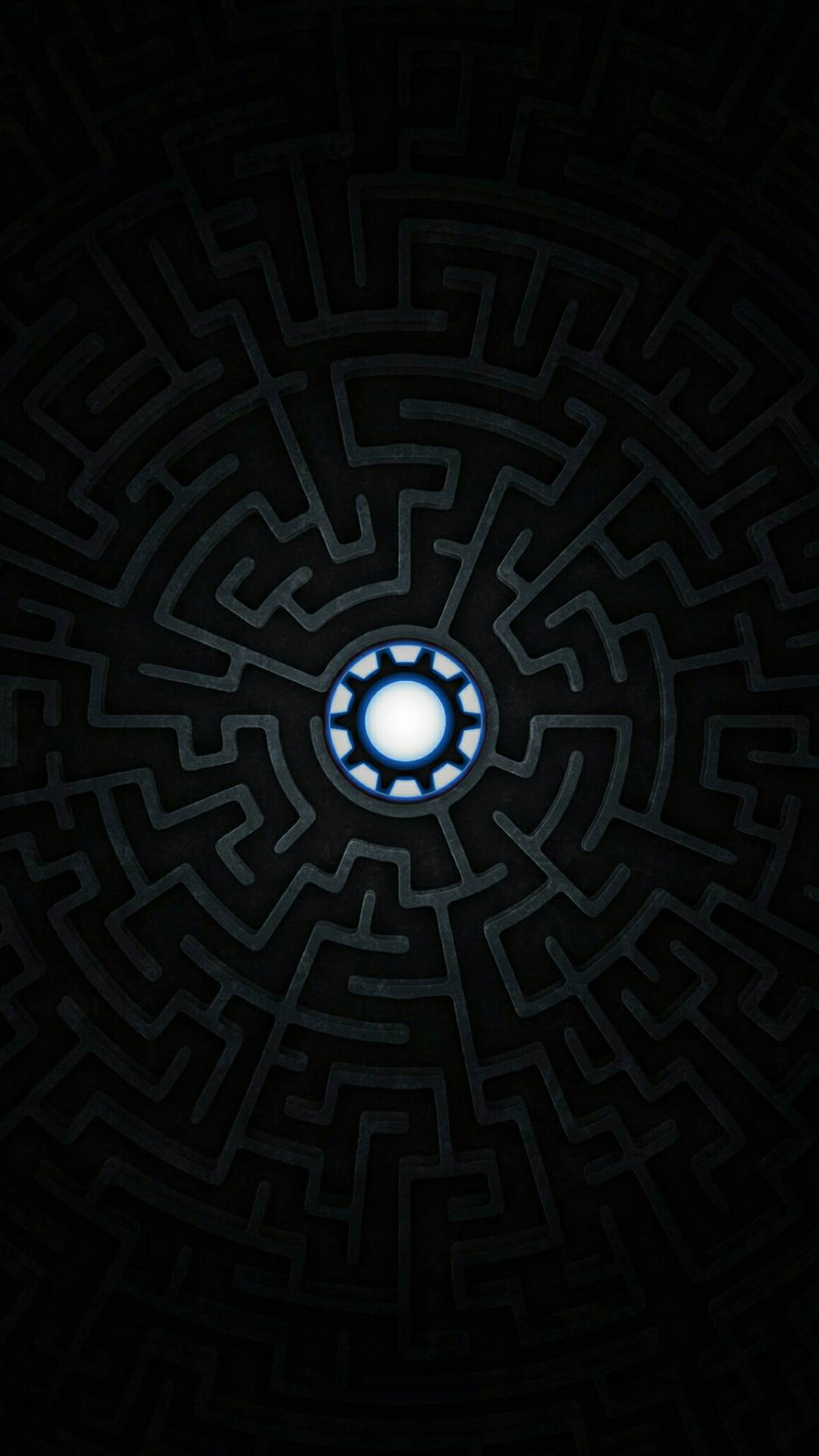 Iron Man Maze iPhone Wallpaper
