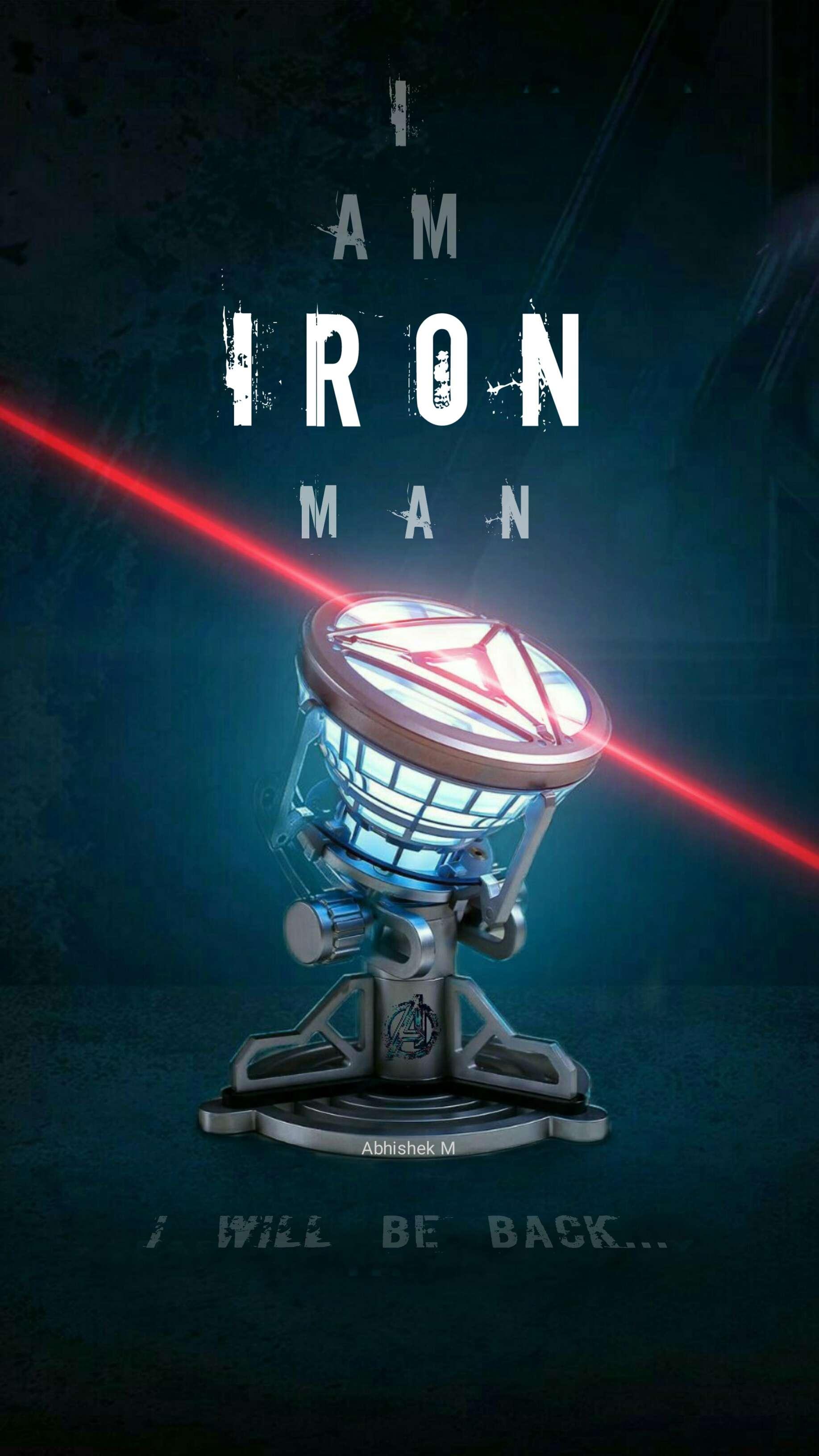 Iron Man New Element Arc Reactor Mark IV iPhone Wallpaper