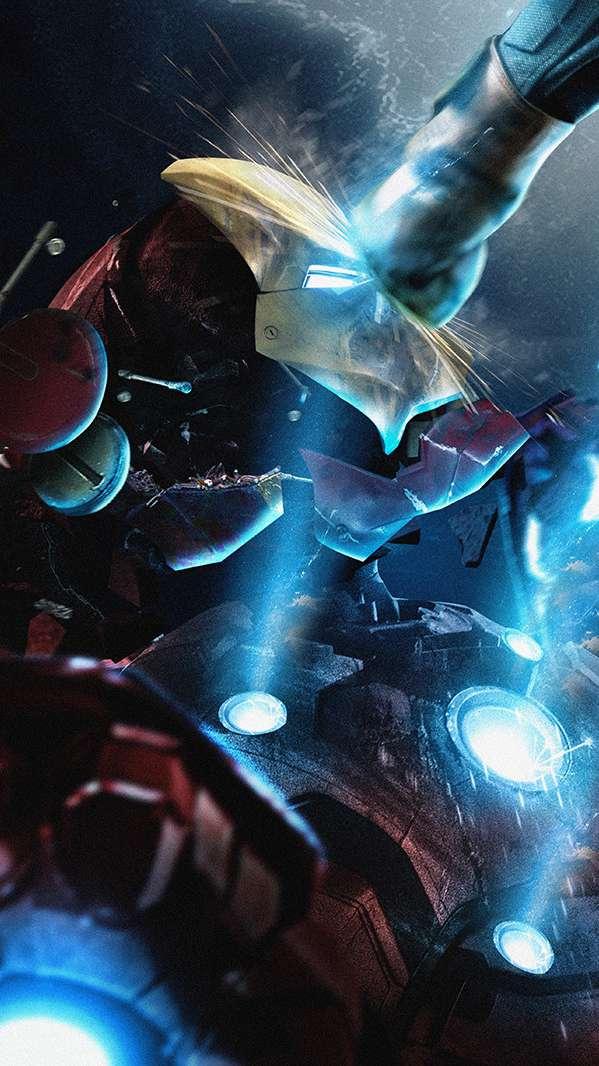Iron Man Punch iPhone Wallpaper