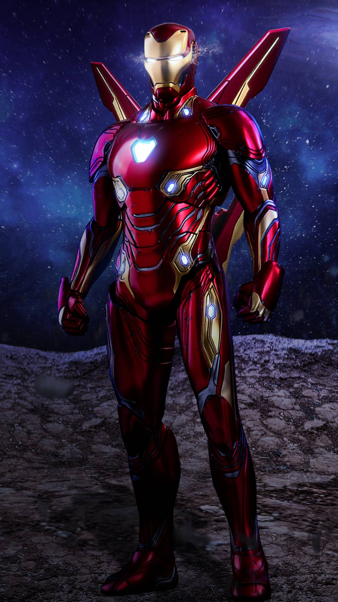 Iron Man Red Armor Mark 50 iPhone Wallpaper