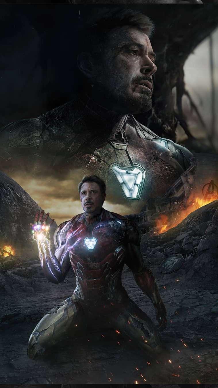 Iron Man Sacrifice Endgame Snap iPhone Wallpaper