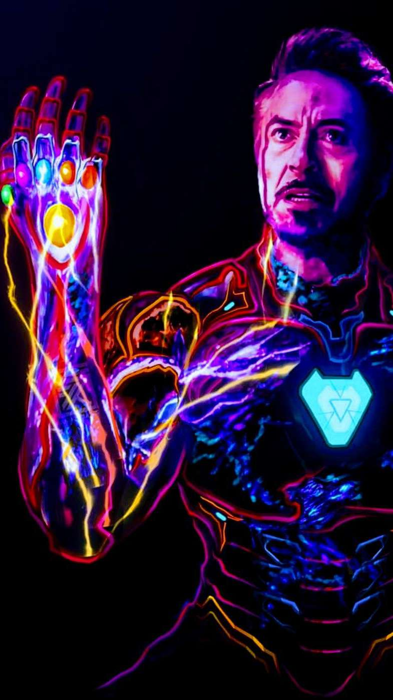iron man sacrifice snap art iphone wallpaper
