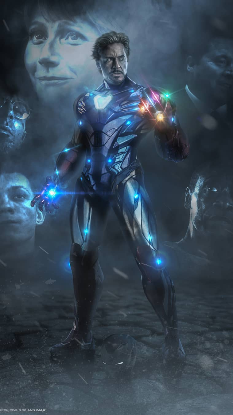 Iron Man Snap Infinity Stones Avengers Endgame iPhone Wallpaper