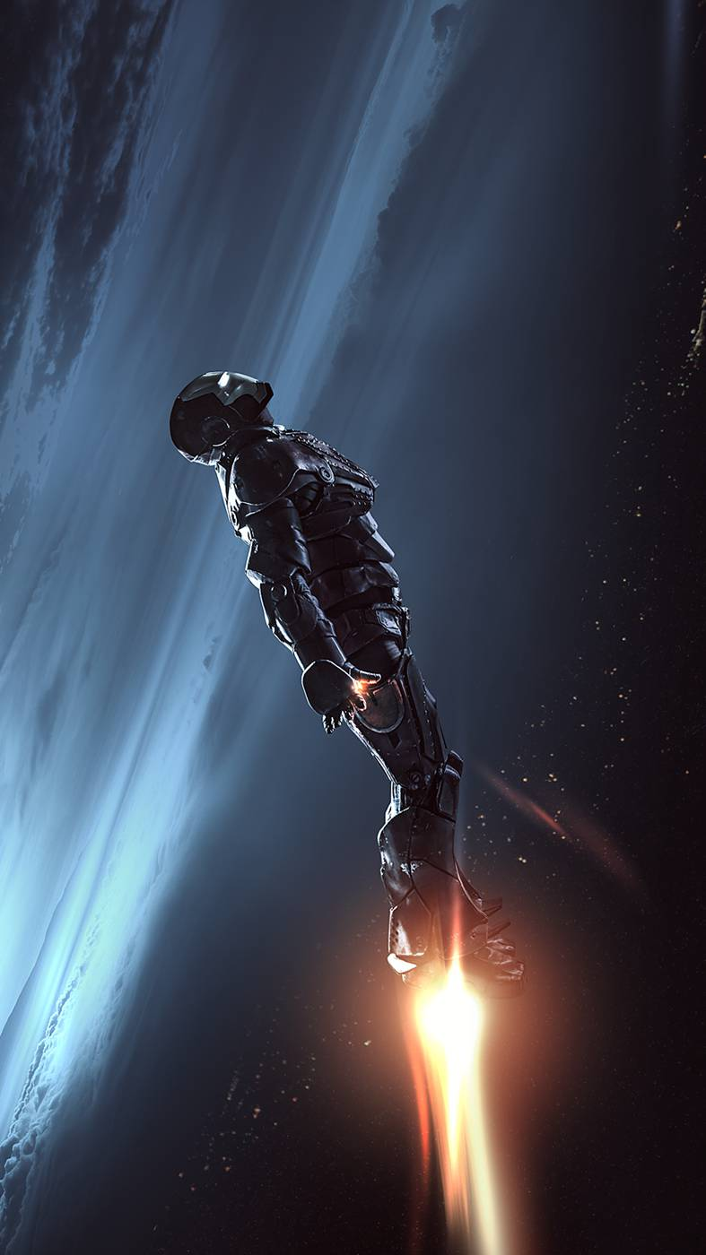Iron Man Space Armor iPhone Wallpaper