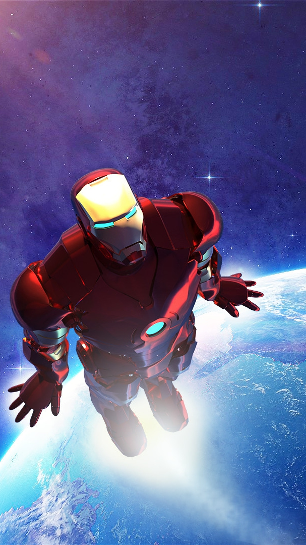 Iron Man Space Flight iPhone Wallpaper