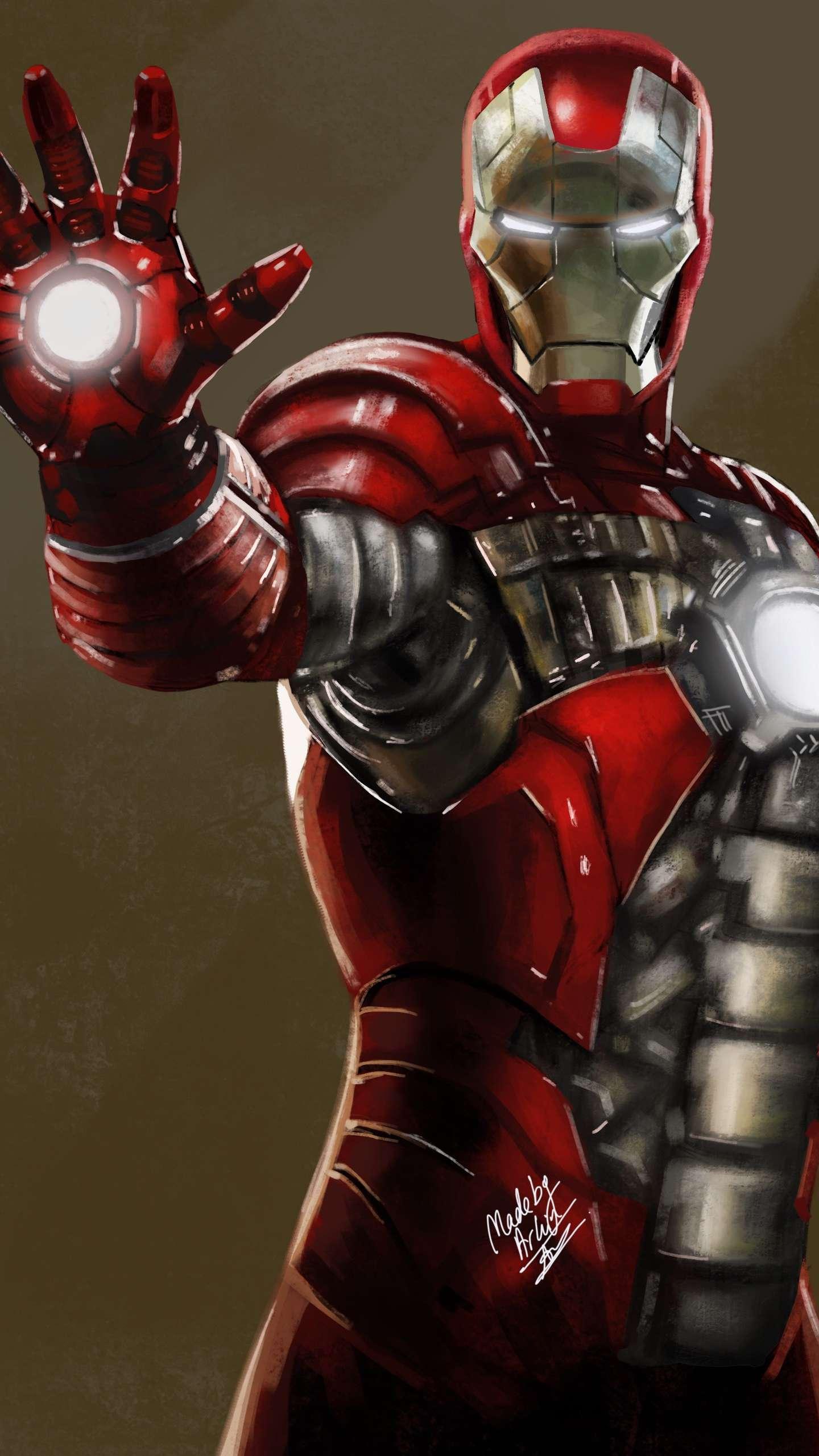 Iron Man Suitcase Armor Mark 5 iPhone Wallpaper
