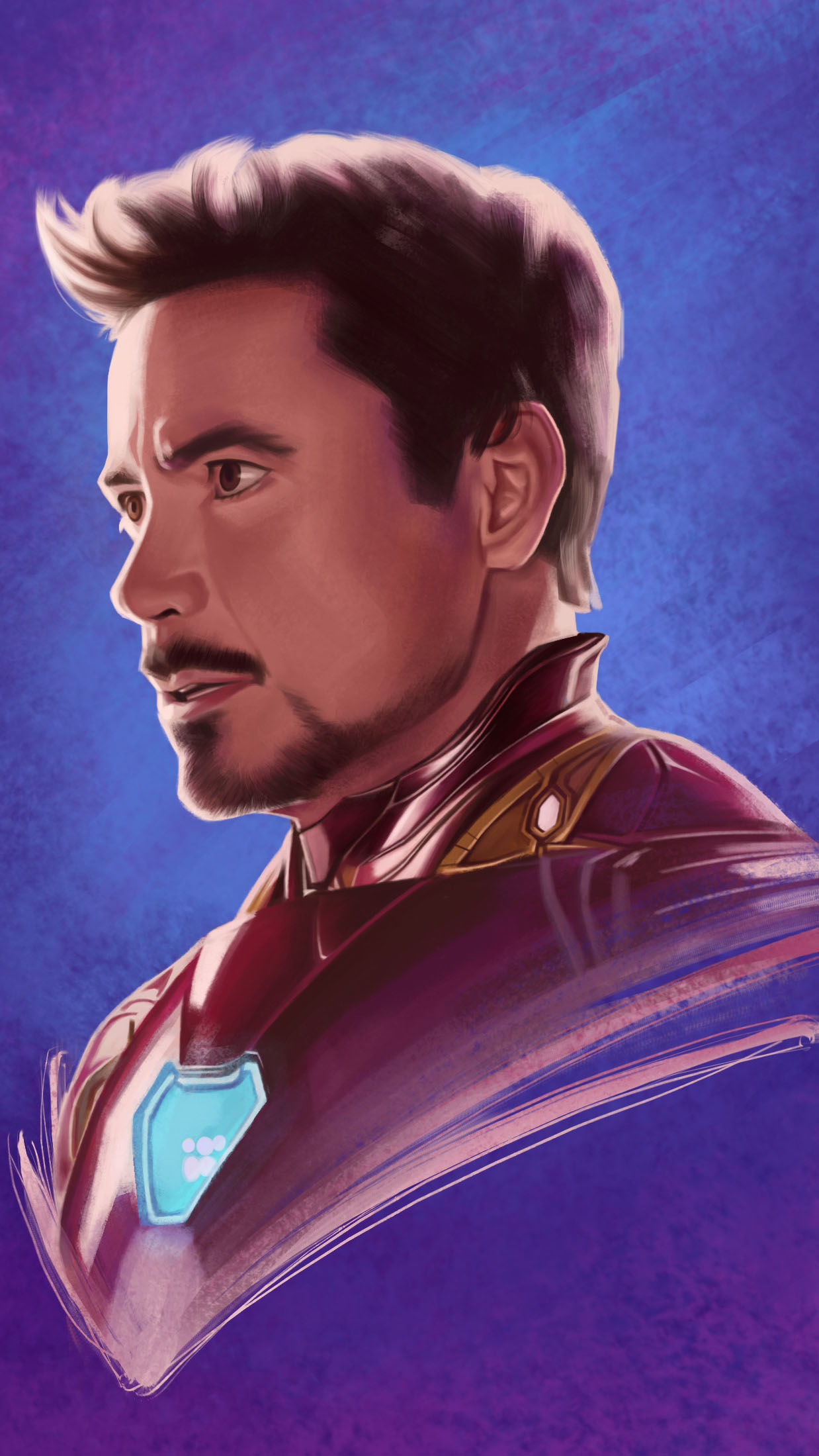 Iron Man Tony Stark Sketch iPhone Wallpaper