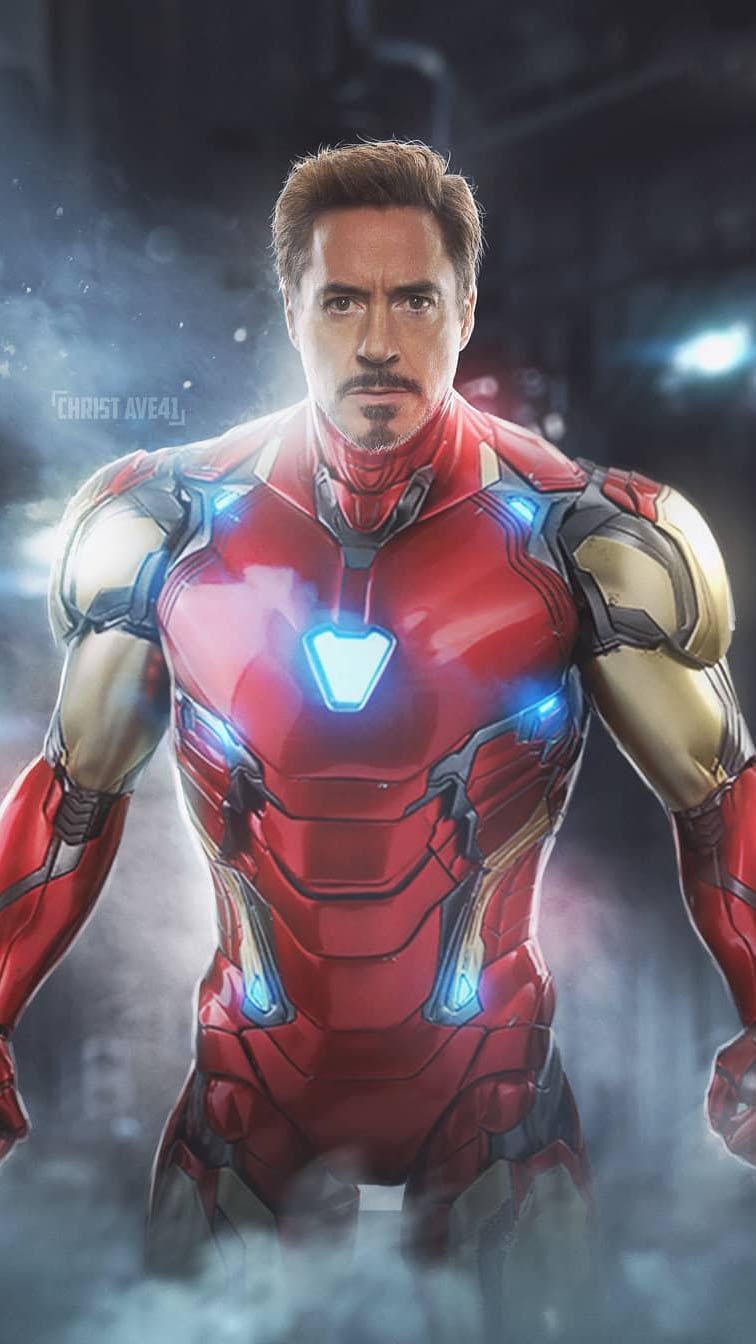 Iron Man in MK 86 Armor iPhone Wallpaper