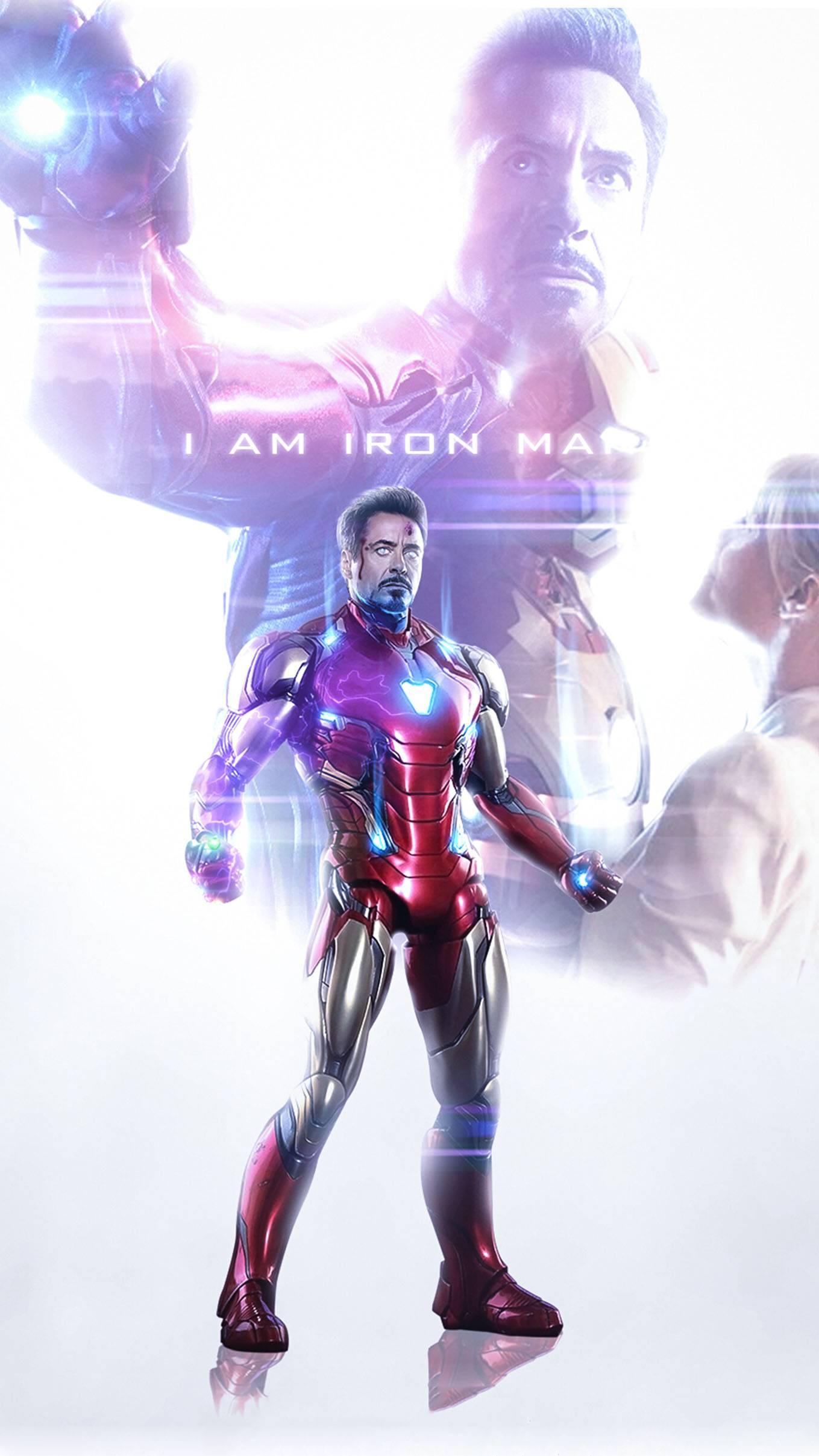 Iron Man the Legend iPhone Wallpaper