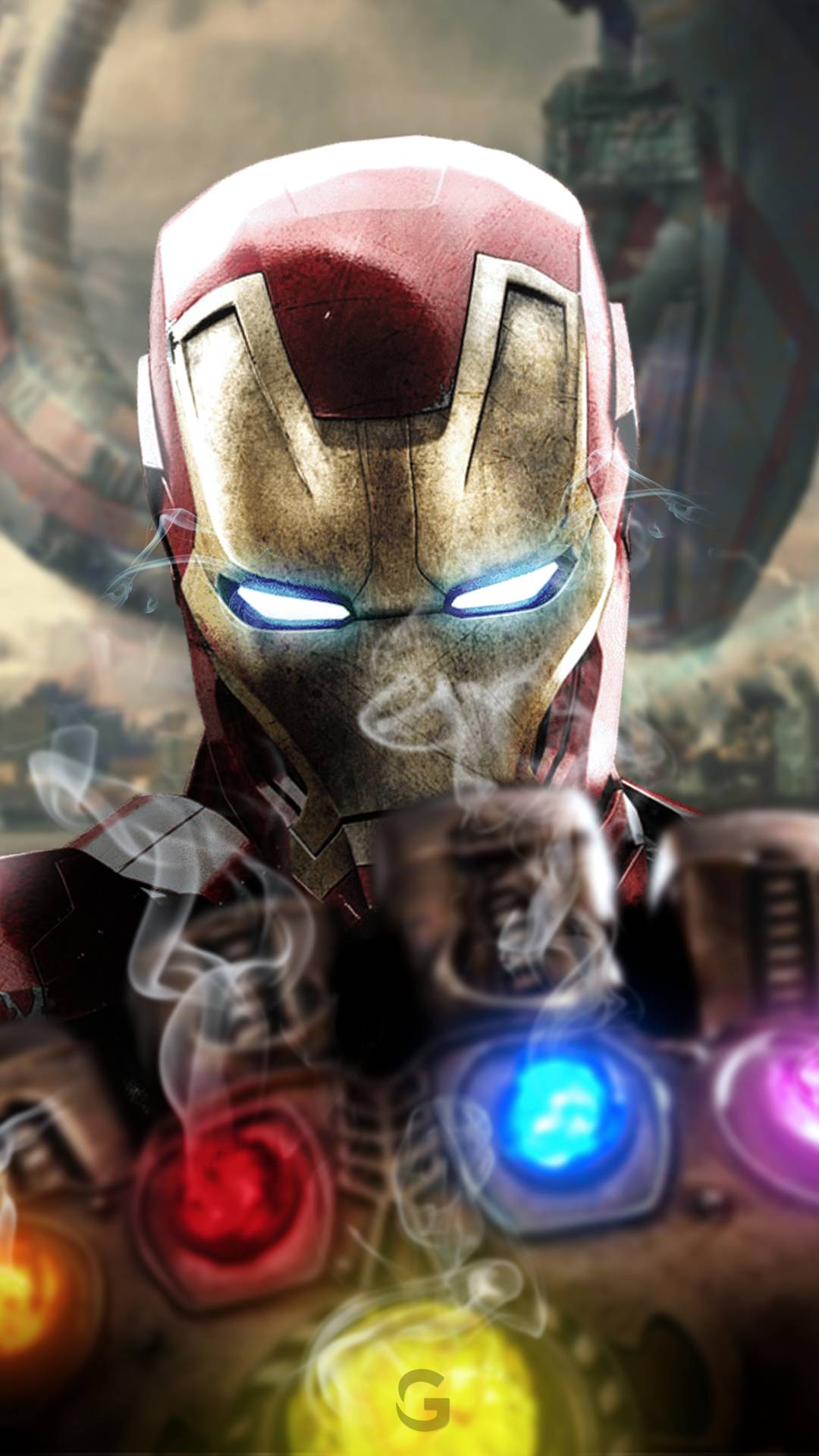 Iron Man Vs Infinity Stones Iphone Wallpaper Iphone
