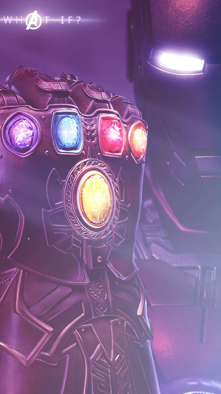 Iron Man with Infinity Stones iPhone Wallpaper