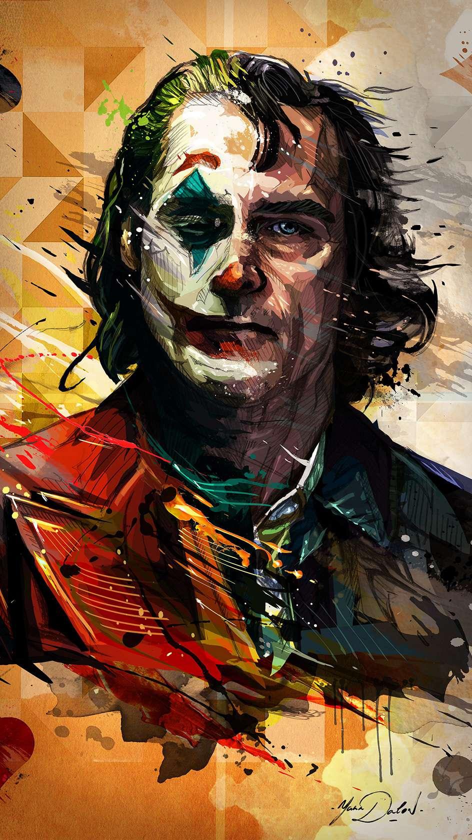 Joker Art iPhone Wallpaper