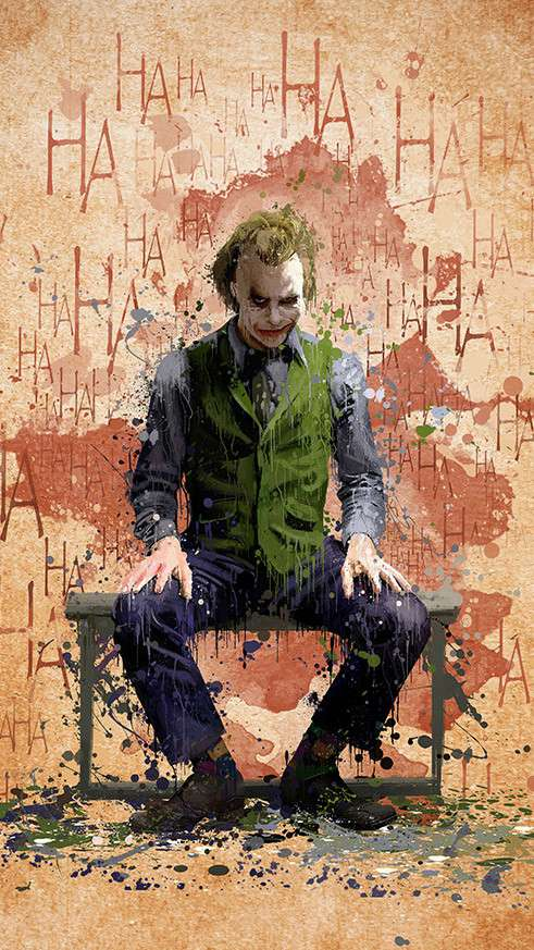 Joker Laugh iPhone Wallpaper
