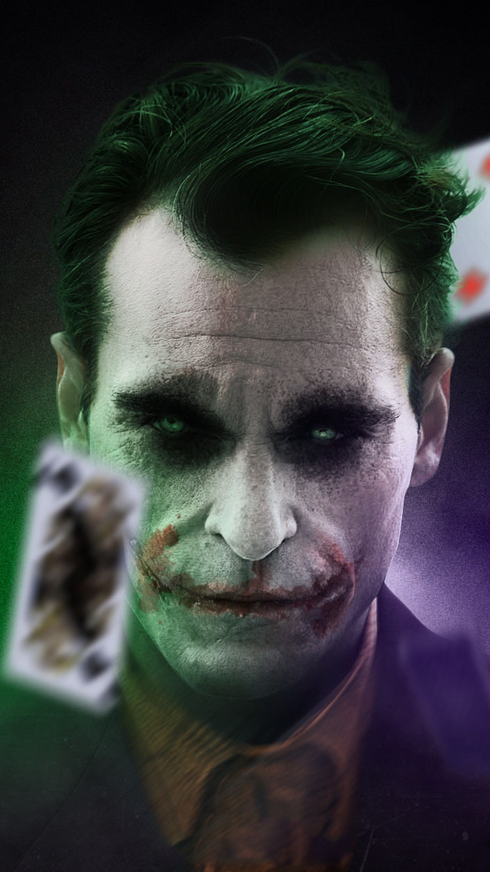 Joker and Cards iPhone Wallpaper