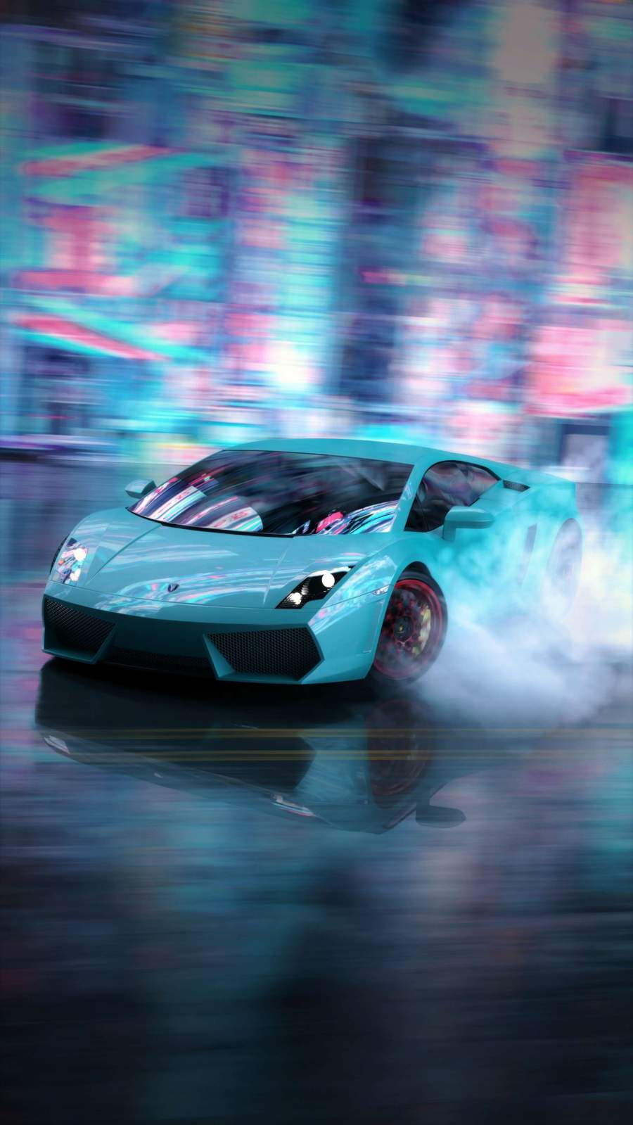 Lamborghini Drift iPhone Wallpaper