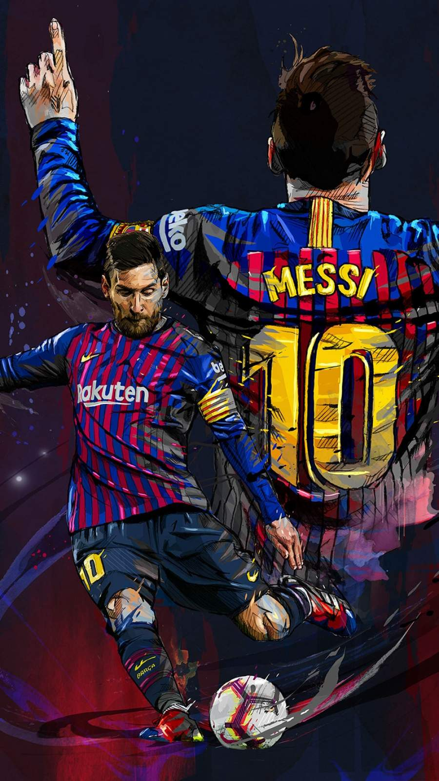 Lionel Messi Art iPhone Wallpaper