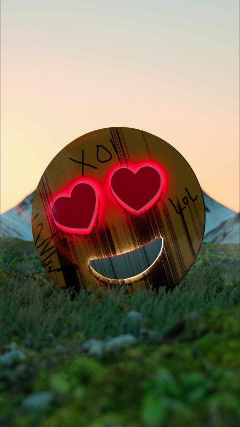 Love Emoji iPhone Wallpaper