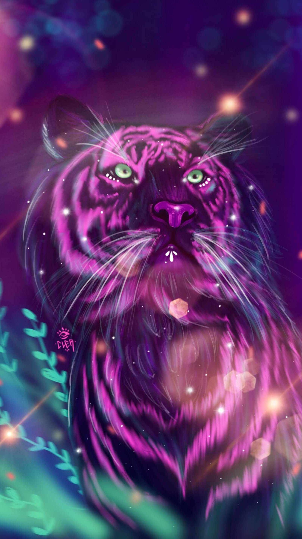 Magic Tiger iPhone Wallpaper