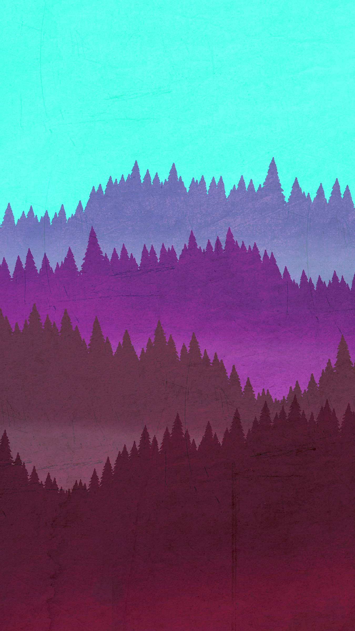 Minimal Forest Artwork iPhone Wallpaper