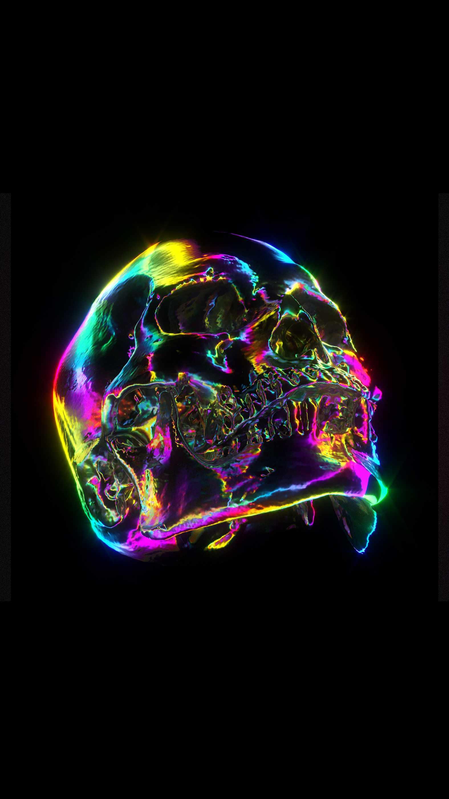 Neon Death iPhone Wallpaper