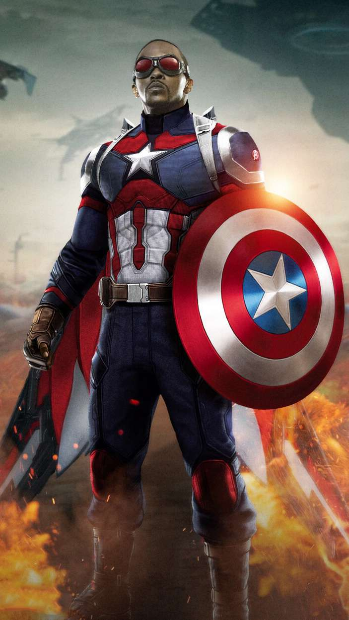 New Captain America iPhone Wallpaper