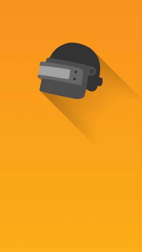 PUBG Helmet Minimal iPhone Wallpaper