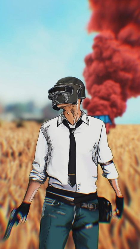 PUBG Player Airdrop iPhone Wallpaper
