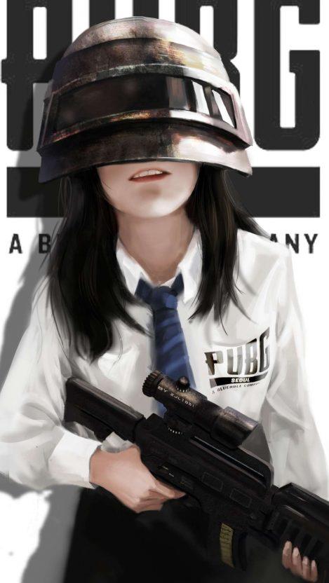PUBG Player Girl iPhone Wallpaper