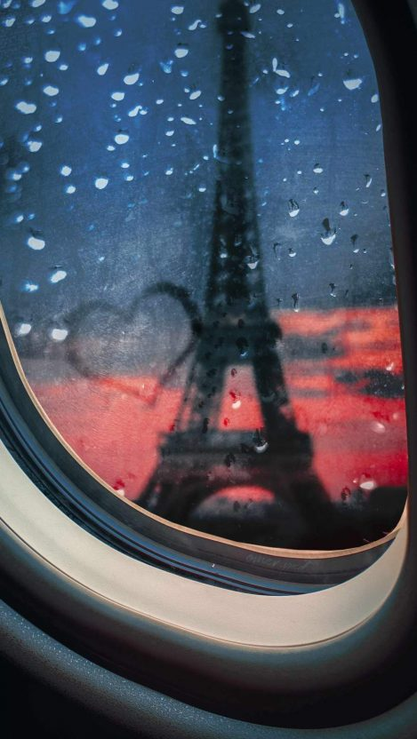 Paris Eiffel Tower Love iPhone Wallpaper