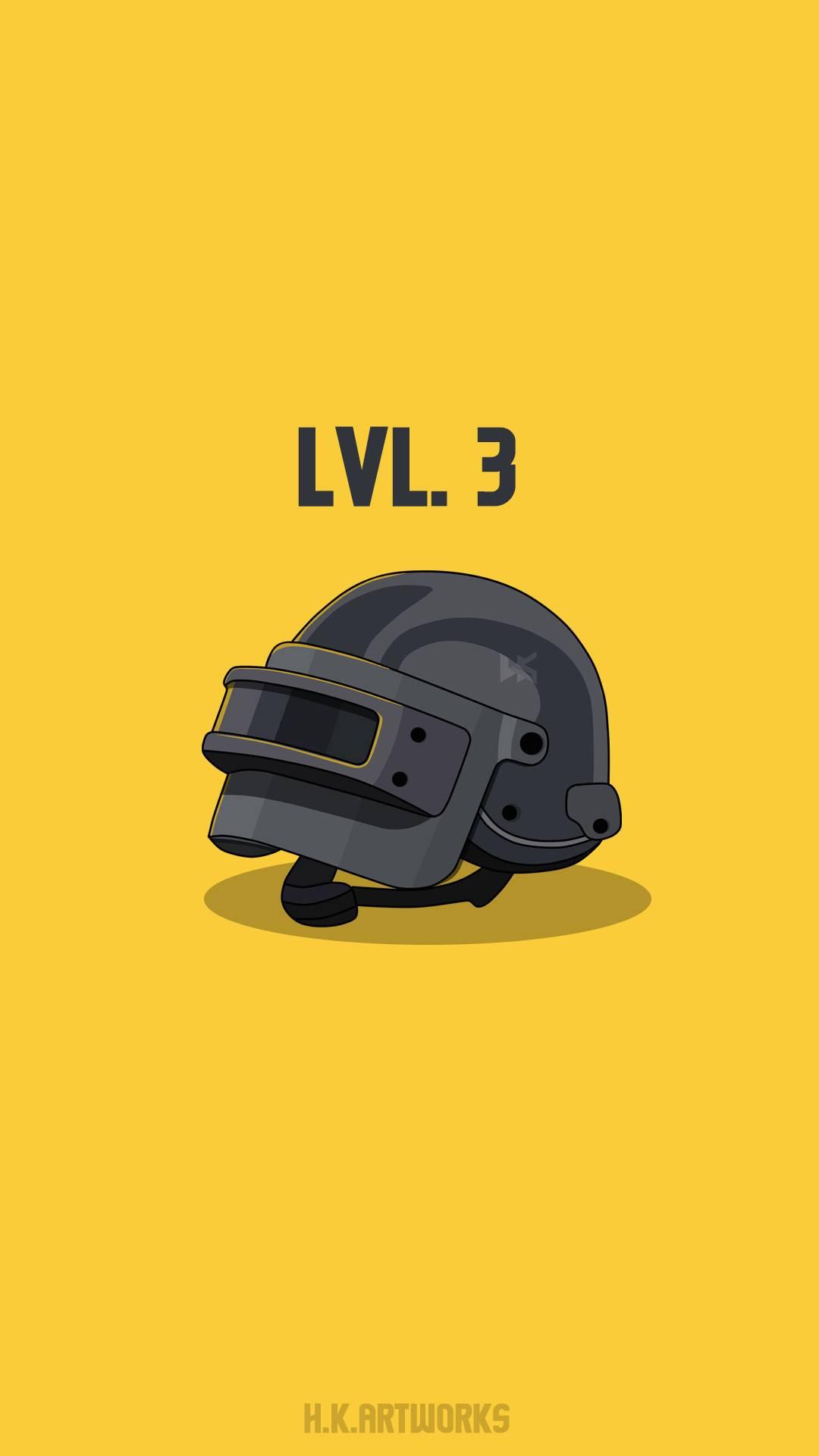 Pubg Lvl 3 Helmet iPhone Wallpaper