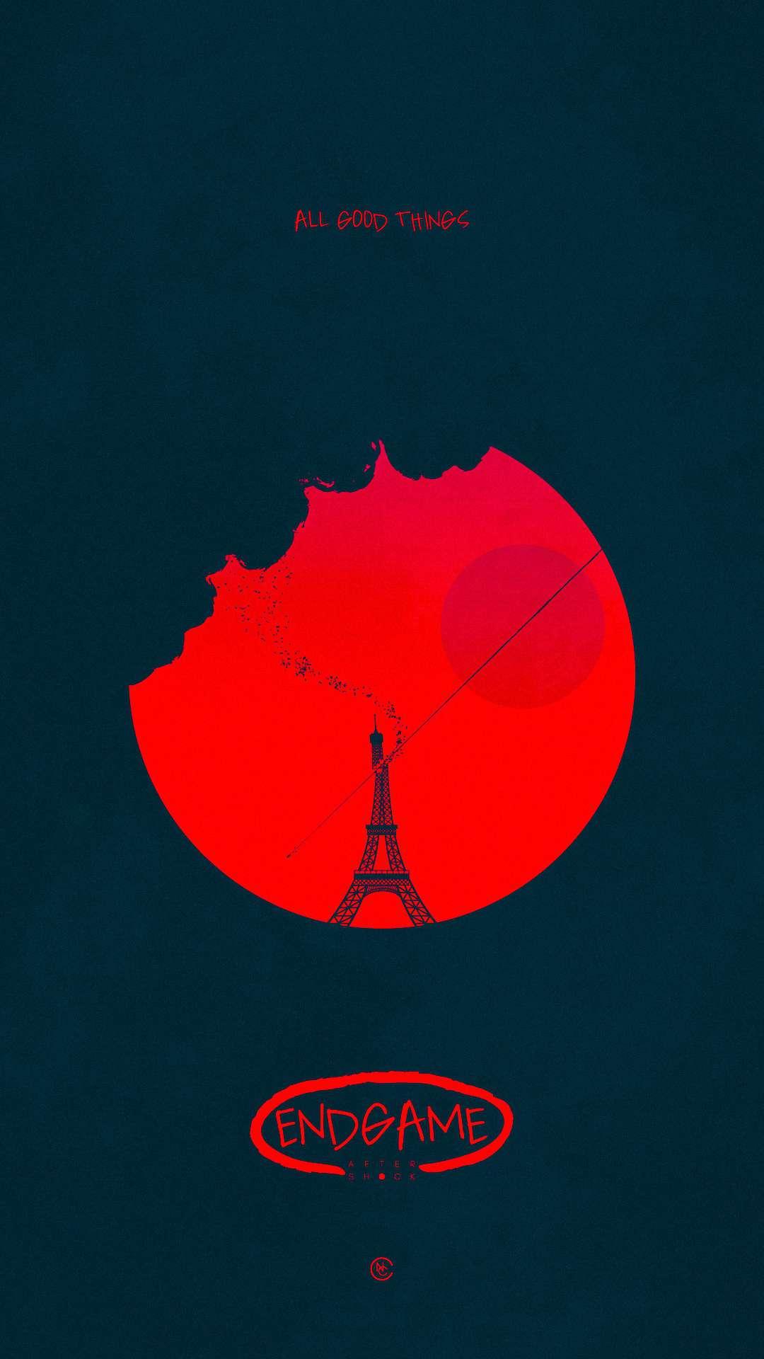 Red Paris iPhone Wallpaper