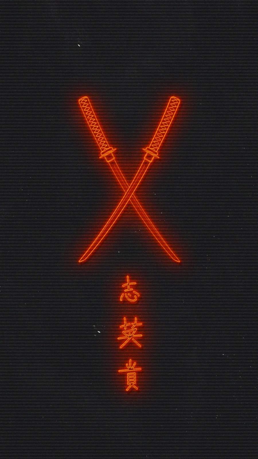 Ronin Sword iPhone Wallpaper