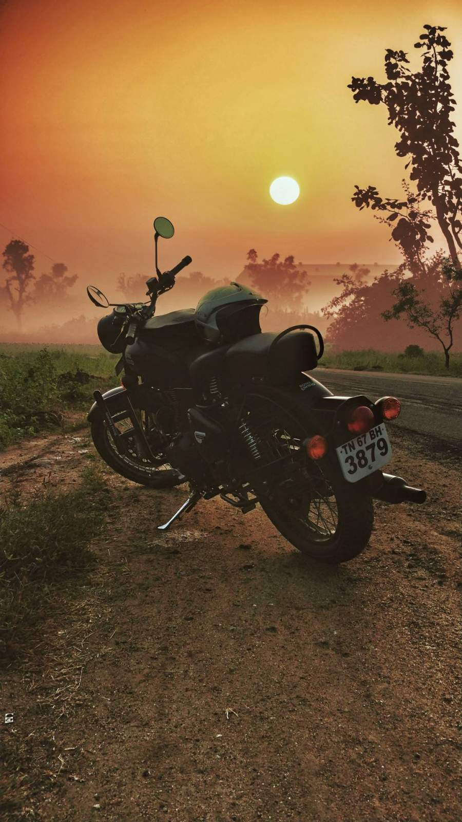 Royal Enfield Sunrise iPhone Wallpaper