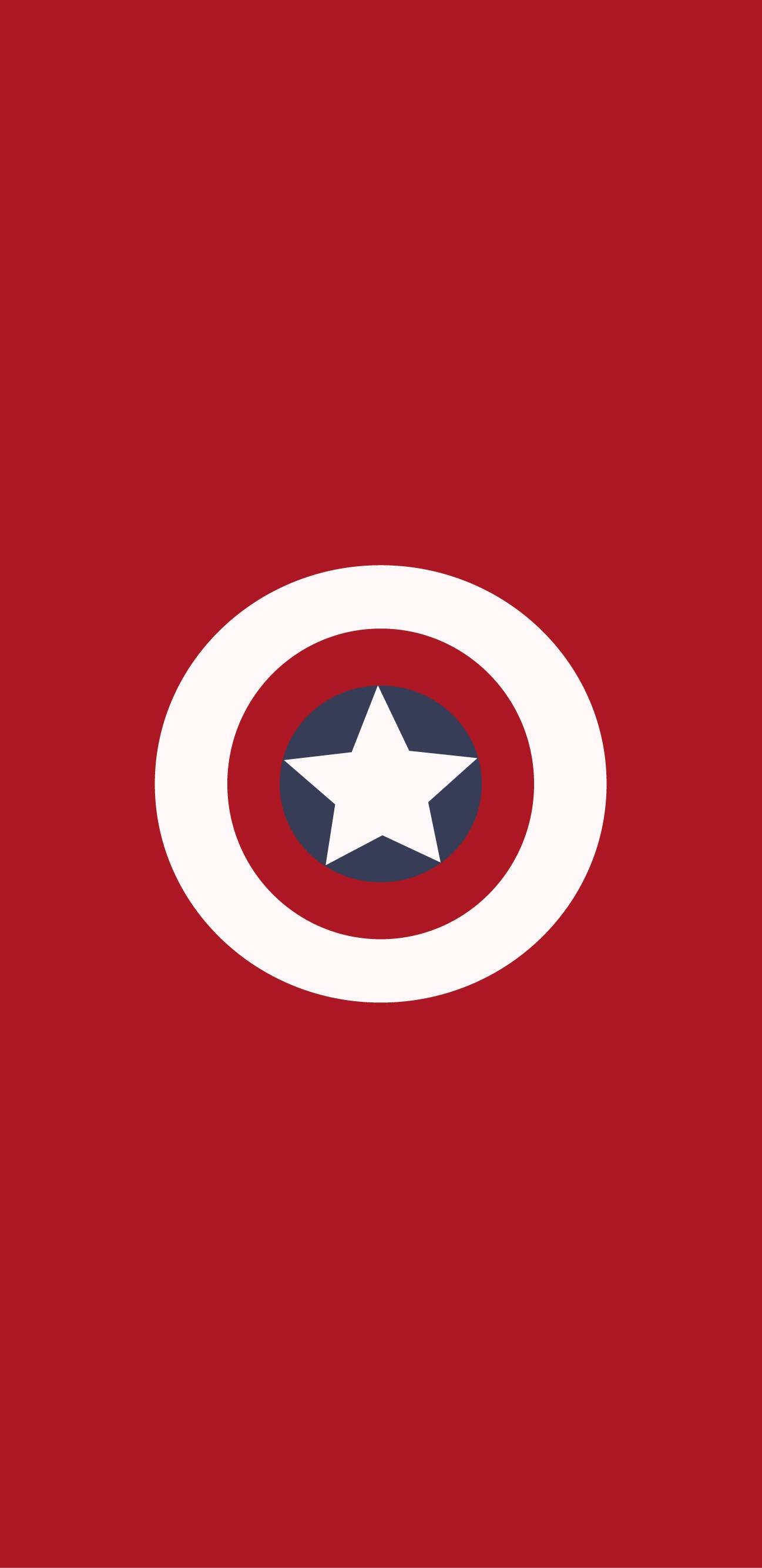 Shield of Captain America iPhone Wallpaper