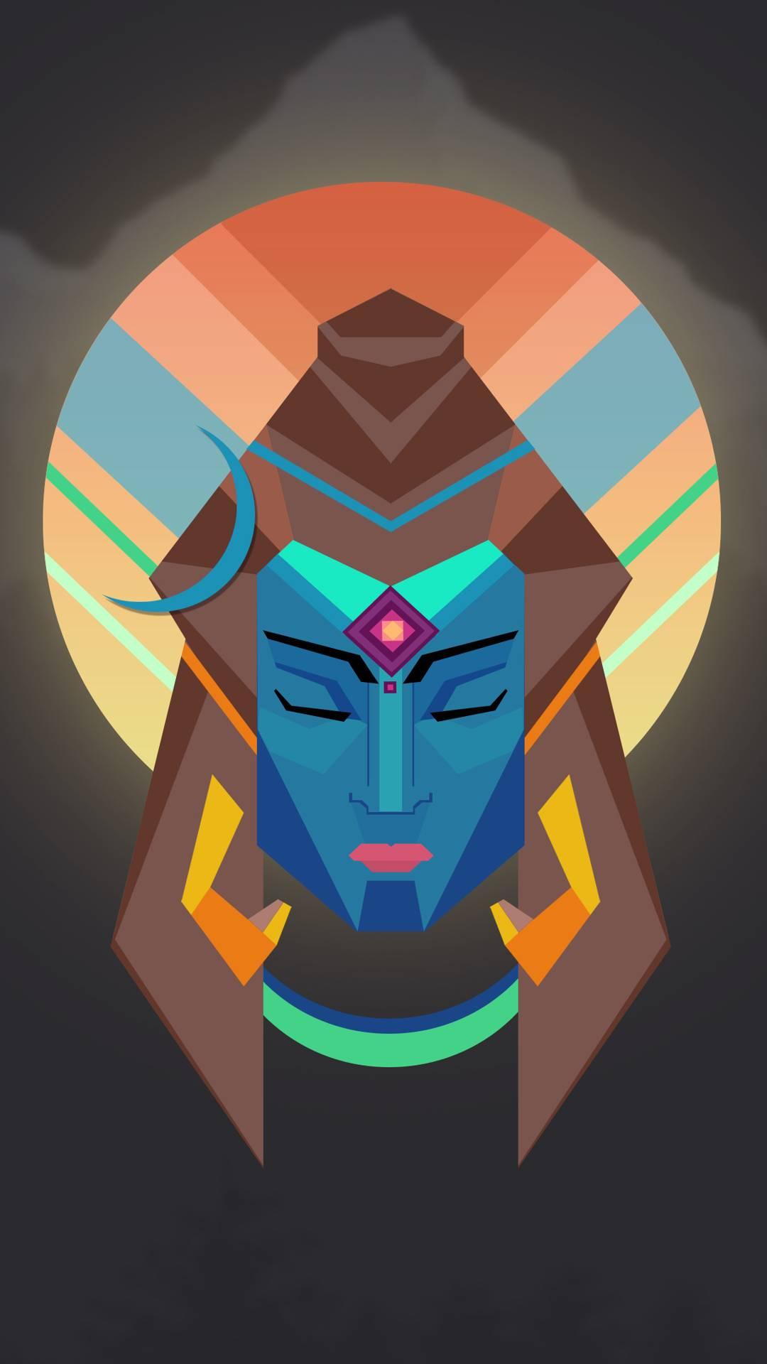 Shiva Art iPhone Wallpaper