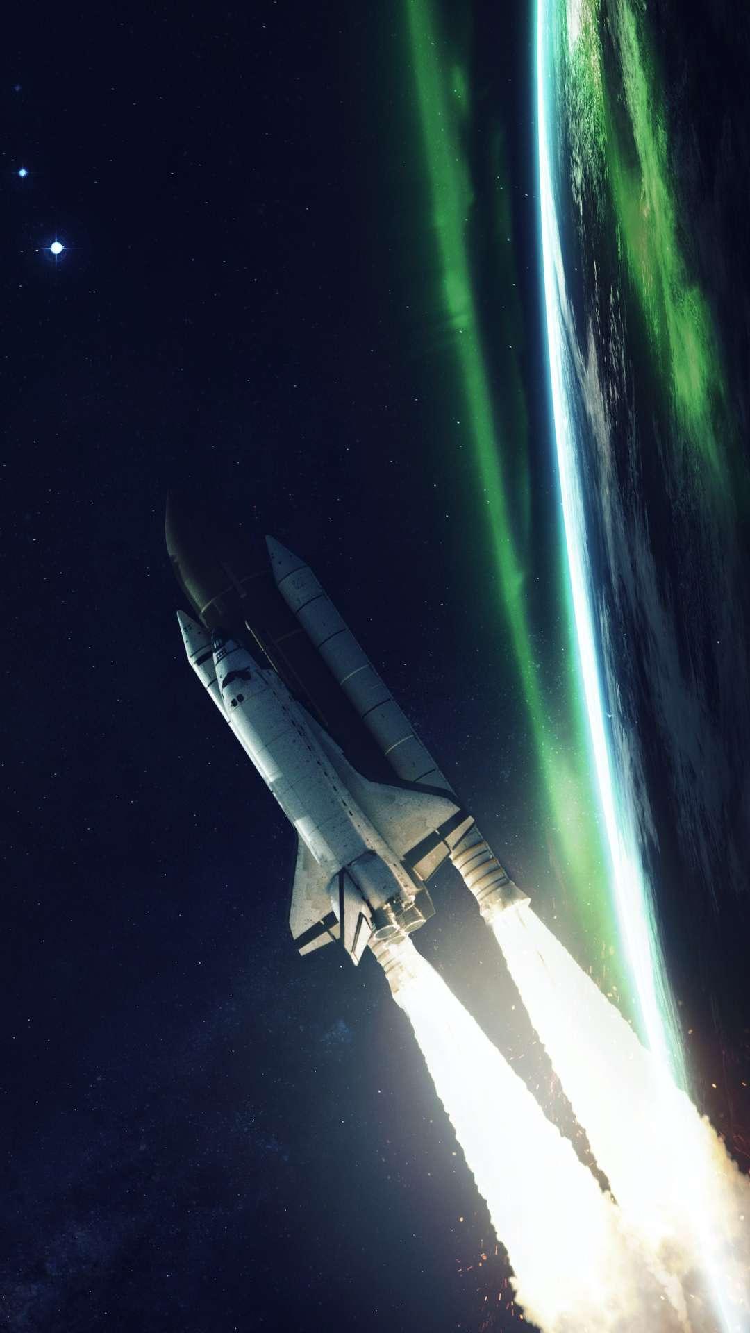 Space Rocket iPhone Wallpaper