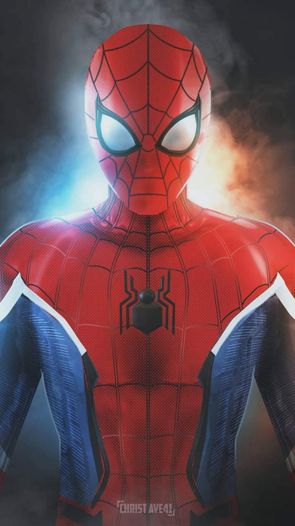Spider Man Suit iPhone Wallpaper