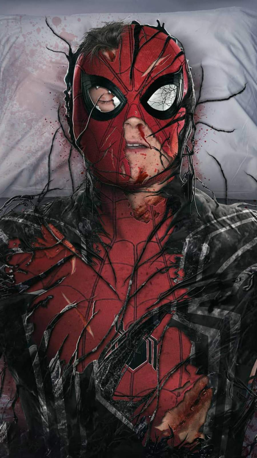 Spiderman Injured iPhone Wallpaper